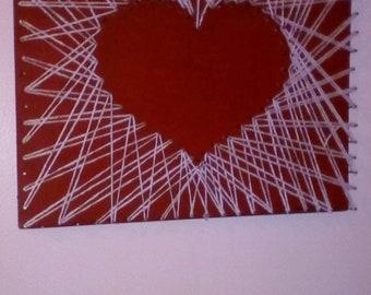 Love heart String Art