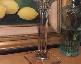 Vintage Glass Candlestick