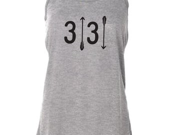 3 Up 3 Down Women's Flowy Tank Baseball Softball Baseballism Arrows