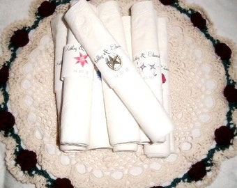 100 Western Rustic Wedding Napkin Ring Cuffs Wraps. Personalized Favors