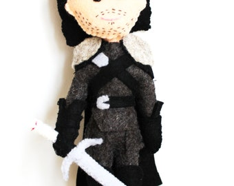 Handmade Felt Doll Inspired by Jon Snow