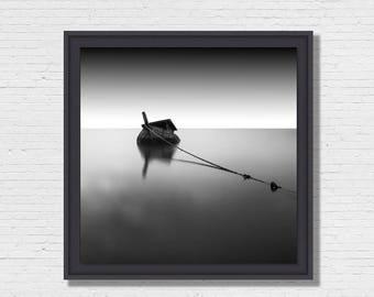 Black Boat - Photo Art framing floater