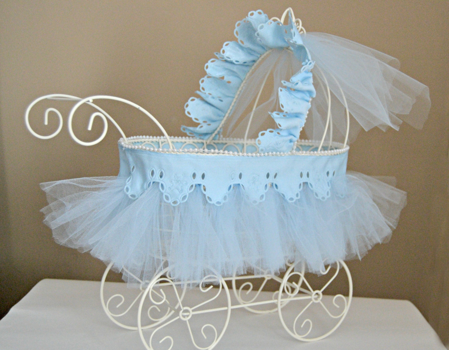 Baby Carriage Nursery Decor Baby Shower Centerpiece Vintage