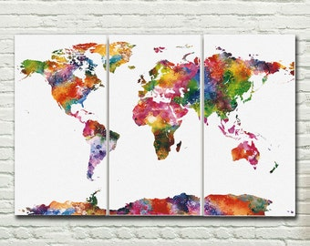 World map canvas etsy gumiabroncs Image collections