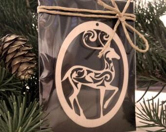 Wooden Deer Decoration. Christmas Ornament for Decoration - Laser Cut - Christmas Deer - Hanging Decoration - Deer Cutout