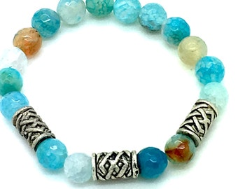 Sea Life, Stretch Bracelet, Beach Jewelry, Resort Wear, Beach Wear, Stackable Bracelet, Boho Jewelry, Gift for Her,Mermaid Jewelry,Turquoise