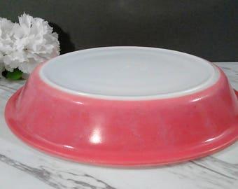 Fun Pink Pyrex Pie Dish. 9 Inch Flamingo Pink with White Milk Glass. Baking & Pumpkin pie cake pan | Etsy