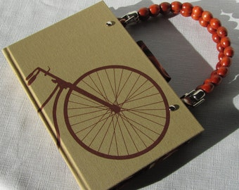Bicycle Altered Book Purse My Life and Times by Jerome K. Jerome
