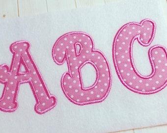Applique Bubble alphabet monogram embroidery font, machine embroidery instant download alphabet letters, Appliqué alphabet