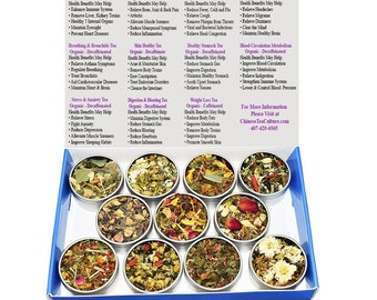 Tea Sampler - Herbal Blend - Decaffeinated - Organic - Gift Box - Tea - Loose Tea - FREE Shipping