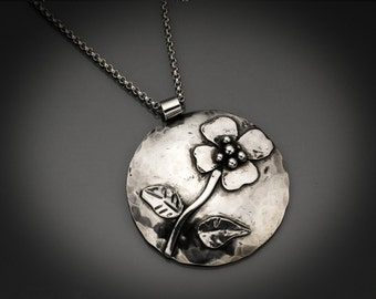 Petals - Sterling Silver Flowered necklace