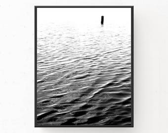 Scandinavian Water Print, Minimalist Print, Digital Download, Water Print, Water Photography, SCANDI POSTER, Printable, Scandinavian Decor