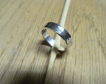 5 MM Hammered Sterling Silver Band Thumb Ring
