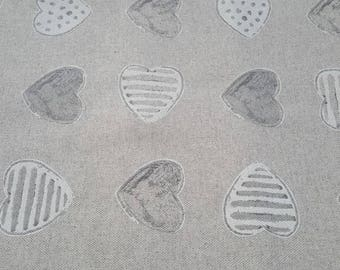 Fabric 50cm x 150cm - heart pounding