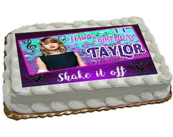 Taylor Swift Birthday Digital Cake Image **Digital Image Only**