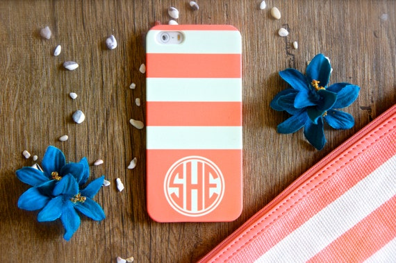 Personalized iPhone Case Monogrammed iPhone 6s Case Monogram iPhone 6s Plus Case iPhone 5s Case Stripes iPhone 6 Case LG G6 Case Samsung S8