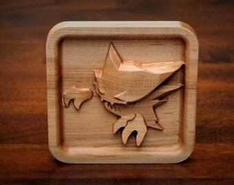 """Hardwood Haunter (5"""" x 5"""" Framed)"""