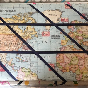 World pinboard map etsy world map memo board gumiabroncs Choice Image