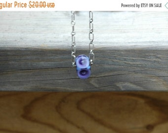 Spring Clear Out Sale Lampwork Focal on Sterling Chain
