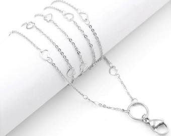 Heart Custom Link Chain Surgical Stainless Steel Necklace