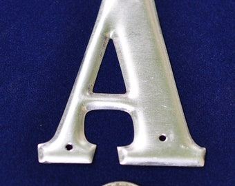 One Vintage Three-Inch Aluminum Letter A SHIPPING INCLUDED