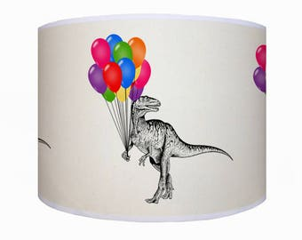 Dinosaur lamp shade etsy lamp shade ceiling light pendant light dinosaur dinosaur lamp shade drum mozeypictures Gallery