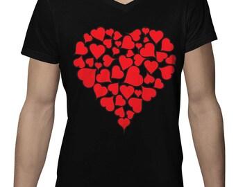 Heart Of Hearts Valentines Day Love Holiday Gift Idea Romance Romantic Holidays Men's V-Neck SF-0445