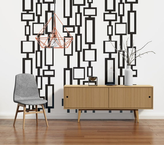 Mid Century Modern Decor Wall Decals