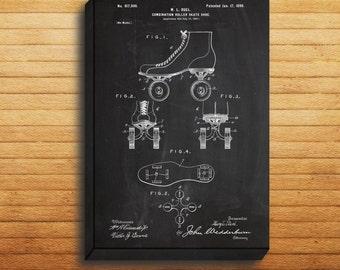 CANVAS - Roller Skates Patent, Roller Skates Poster, Roller Skates Print, Roller Skates Art, Roller Skates Decor, Roller Skating Art