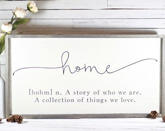 Rustic Home Definition Sign