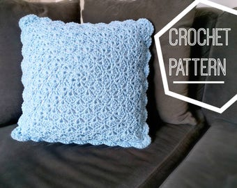 Shabby Chic Shells Crochet Pillow Pattern, Crochet Pattern Pillow, Crochet Pillow Cover Pattern, Baby Pillow Crochet, Crochet Nursery Decor