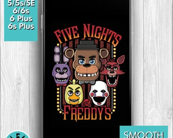 New FNAF Five Nights at Freddy's Multi-Character iPhone 6, iPhone 5 Protective Cover Phone Case All Models Available.