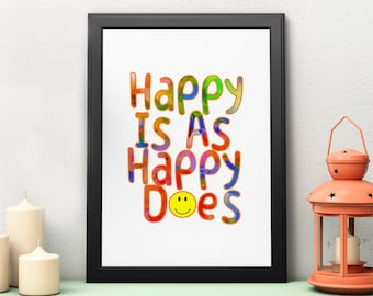 printable,download,happiness,happy,lettering,typography,inspiration,motivation,wall art,home decor,wall decor,quote