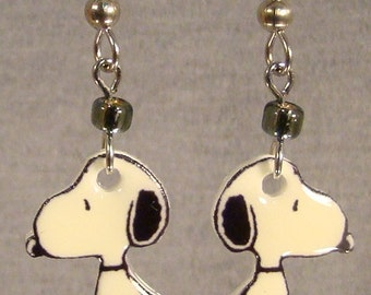 Snoopy Cartoon Dangle Earrings - illustration - Surgical steel
