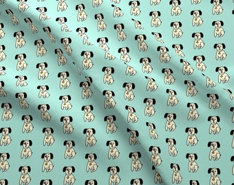 Puppy Fabric - Spot By Franbail - Abstract Pet Portrait Cotton Fabric By The Yard With Spoonflower