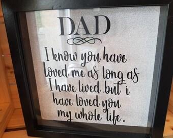 Father's day. Dad. Box frame/shadow box