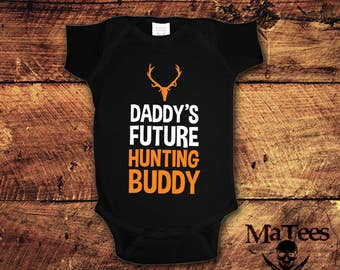 Hunting, Hunting Gifts, Hunter, New Baby Gift, New Baby, Daddys Drink Buddy, Baby Shower Presnt, Baby Bodysuit One Piece, Crawler