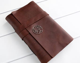 Personalized Travel Journal - Leather Bound Writing Notebook