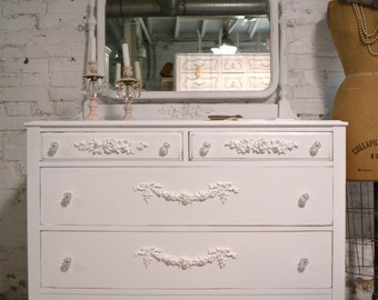 Painted Cottage Chic Shabby French Dresser DR1001