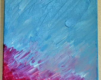 Bright Colors, Spring in Texas, at Sunset, Original Acrylic Abstract