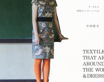 Textiles that are loved around the world and dresses Japanese Craft Book Sewing Print cloth one piece S M ML LL L Dress