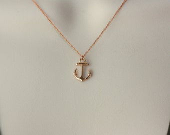 Anchor Rose Gold Charm, Birthday Gift for Wife, for Mom, for Sister, for Sister in Law, for Girlfriend, for Niece, Spring Trends, Rose Gold