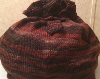 Handmade large knit giftbag