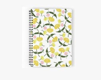 Spiral Notebook: Yellow Zinnia