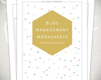 Blog Management Worksheets - 5 Modern Printable PDF Worksheets for Blog Post Planning