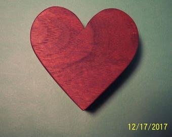 Wooden Jewelry Box  --   Earrings/Rings -- Heart Shaped-- Scroll Saw