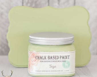 Vintage Storehouse Chalk Based Paint - Sage