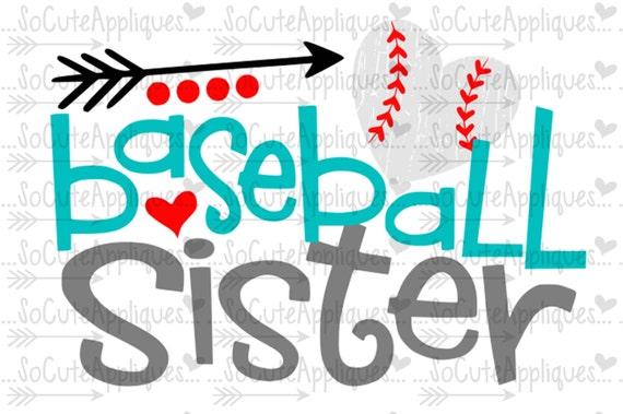 baseball sister svg design little sister biggest fan rh etsy com Baseball Word Clip Art Baseball Ball Clip Art
