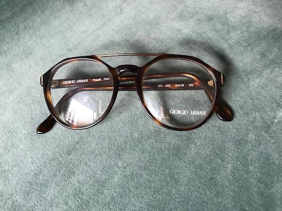 80s Giorgio Armani glasses / designer glasses / vintage Armani