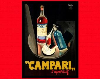 Campari Print 1926 - Food Poster Kitchen Home Decorating Campari Poster Kitchen Kitchen Decor Food Prints Gift Idea  t